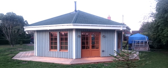 wood panel house, timber panel house, UK
